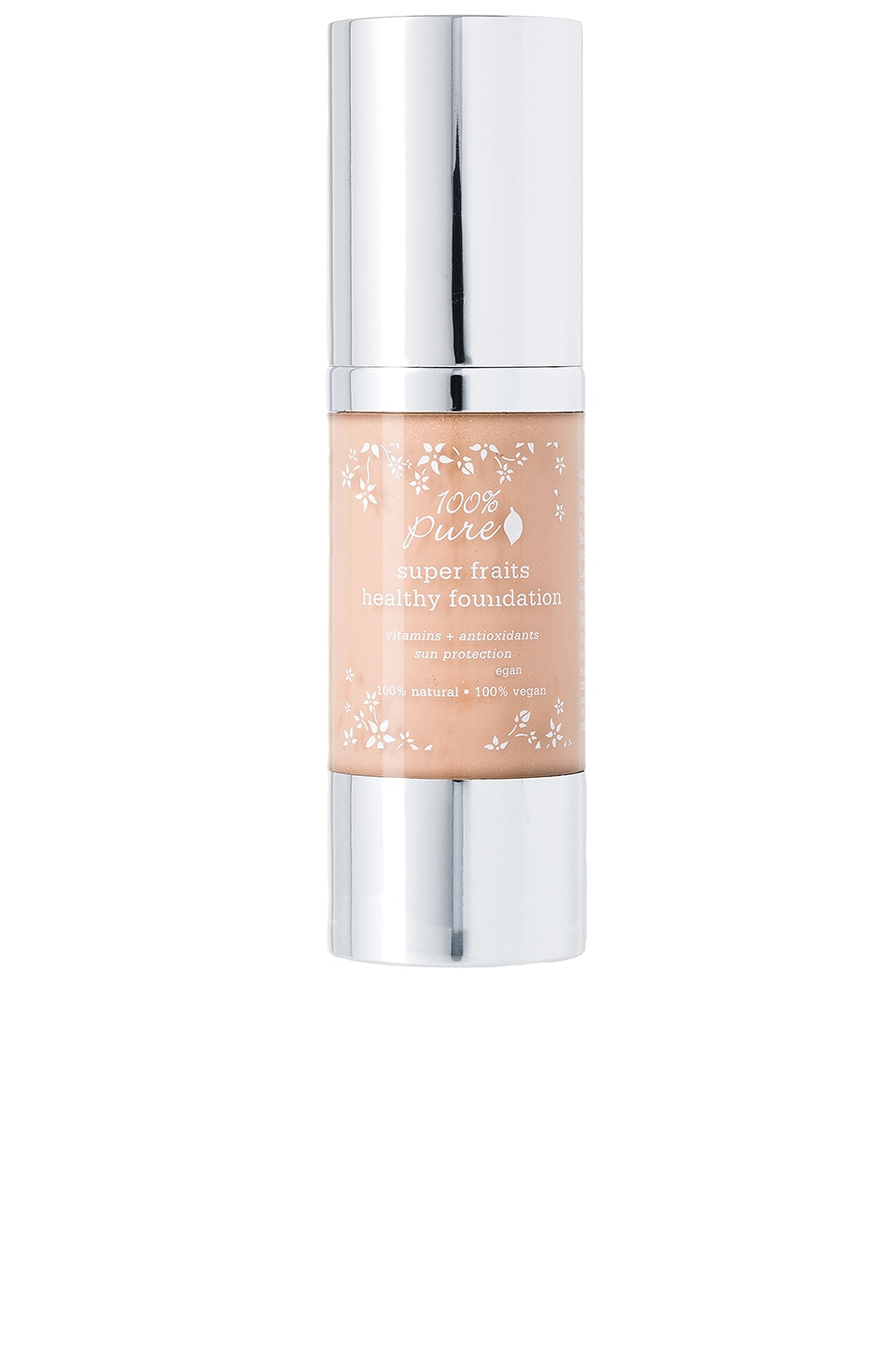 100% Pure Full Coverage Foundation w/Sun Protection in Peach Bisque