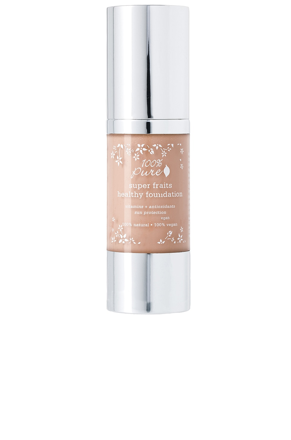 100% Pure Full Coverage Foundation w/Sun Protection in Toffee