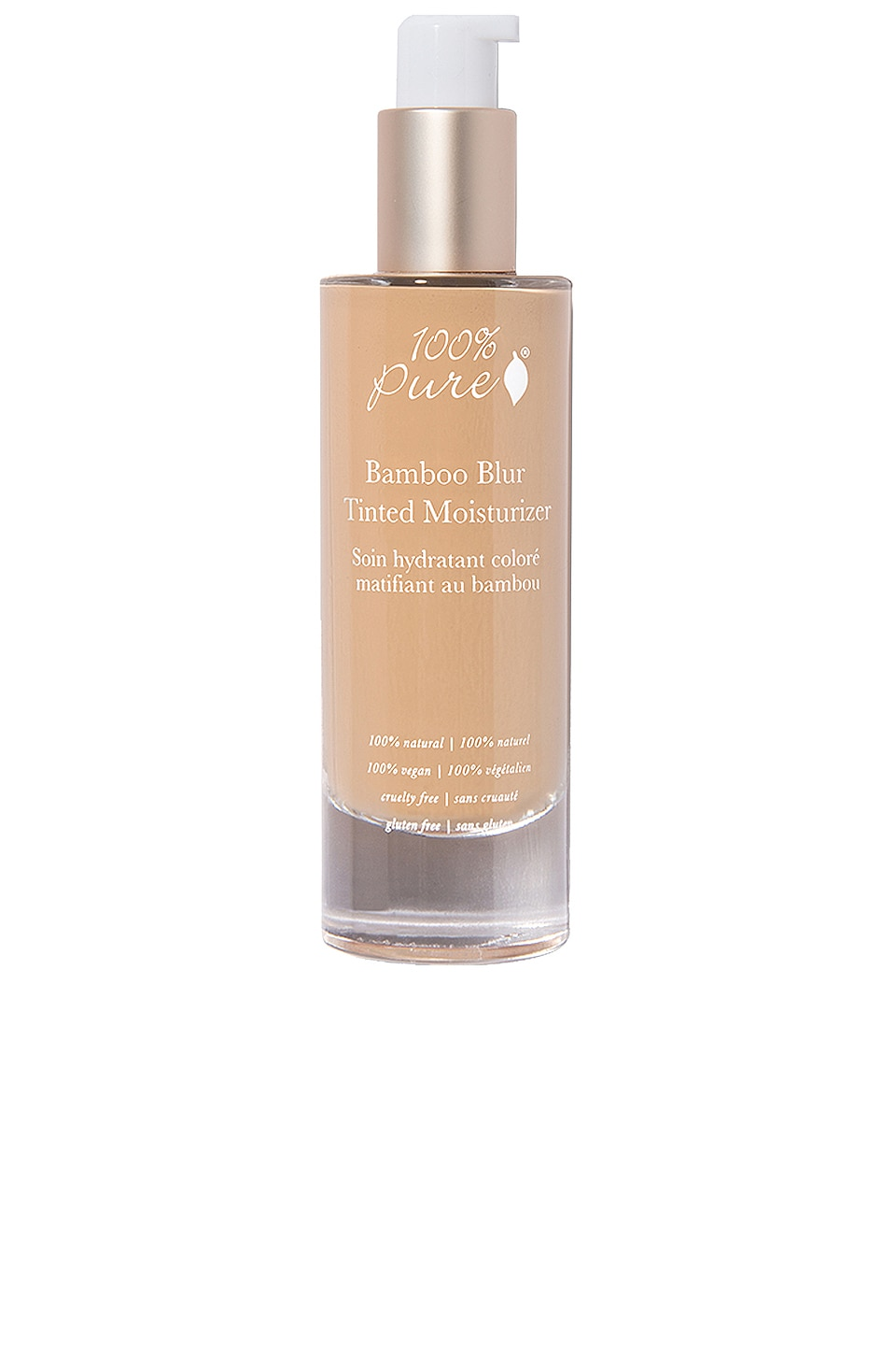 100% Pure Bamboo Blur Tinted Moisturizer in Golden Peach