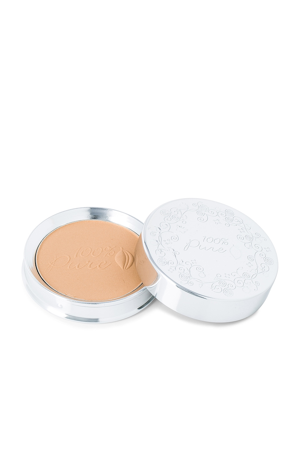 100% Pure Healthy Face Powder Foundation w/ Sun Protection in White Peach