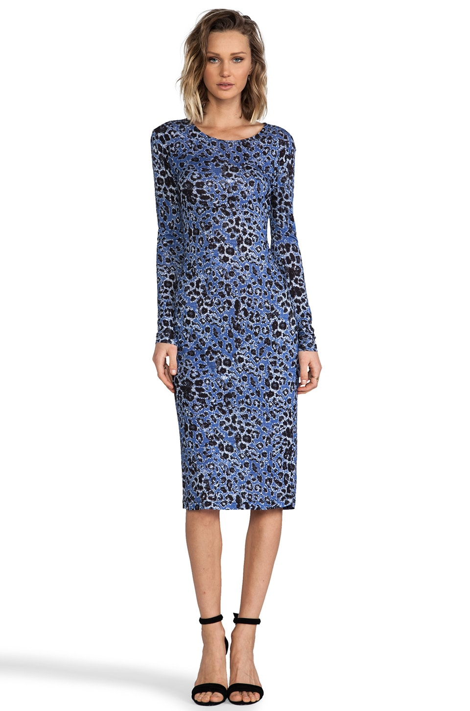 DEREK LAM 10 CROSBY Long Sleeve Dress in Periwinkle