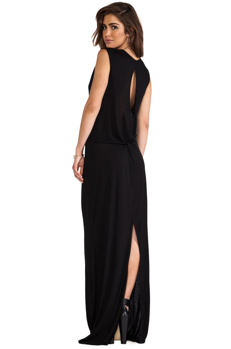 DEREK LAM 10 CROSBY Knot Back Maxi in Black