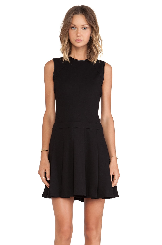 DEREK LAM 10 CROSBY Seam Details Fit & Flare Dress in Black
