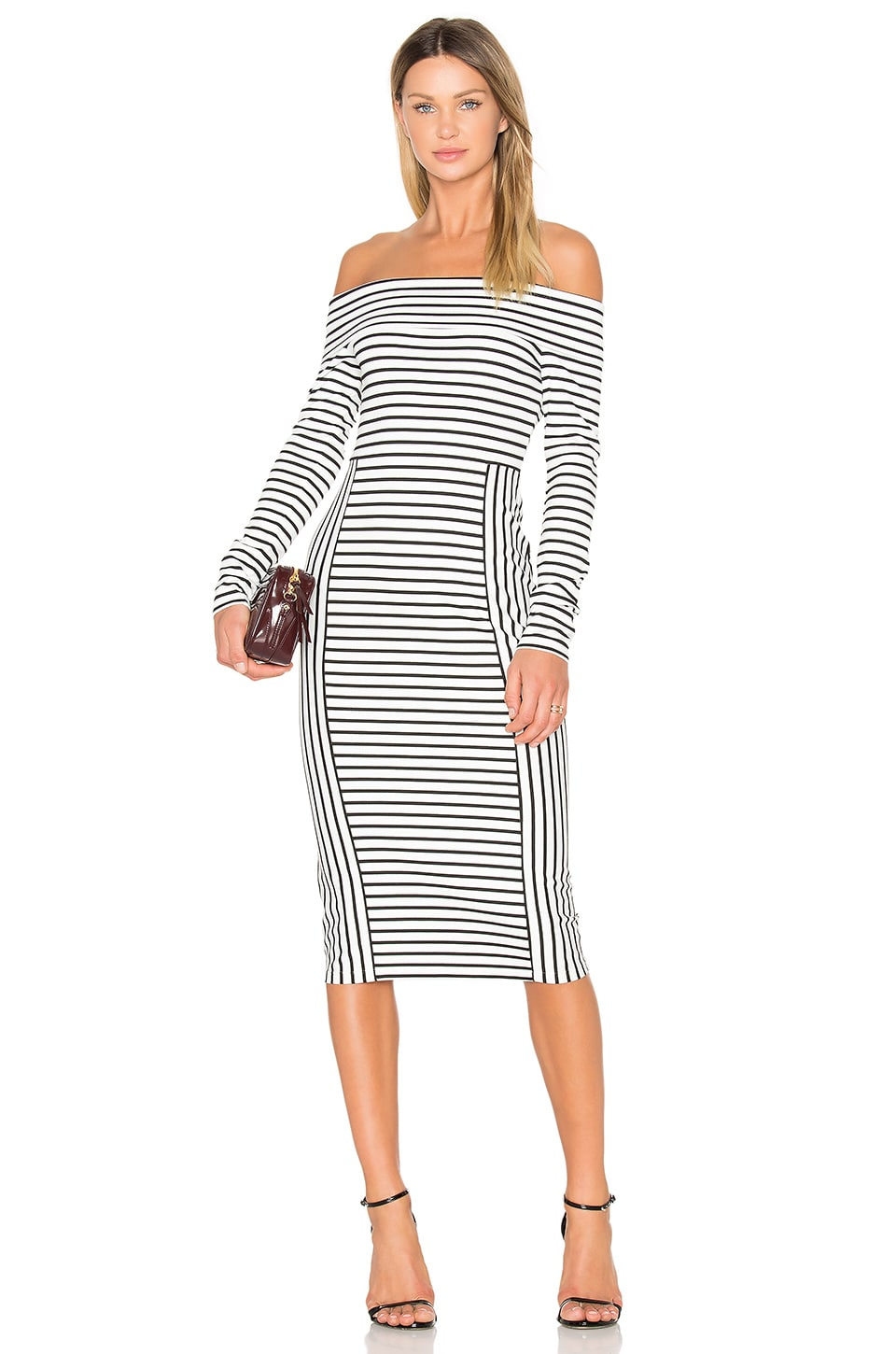 Long Sleeve Off The Shoulder Midi Dress by DEREK LAM 10 CROSBY