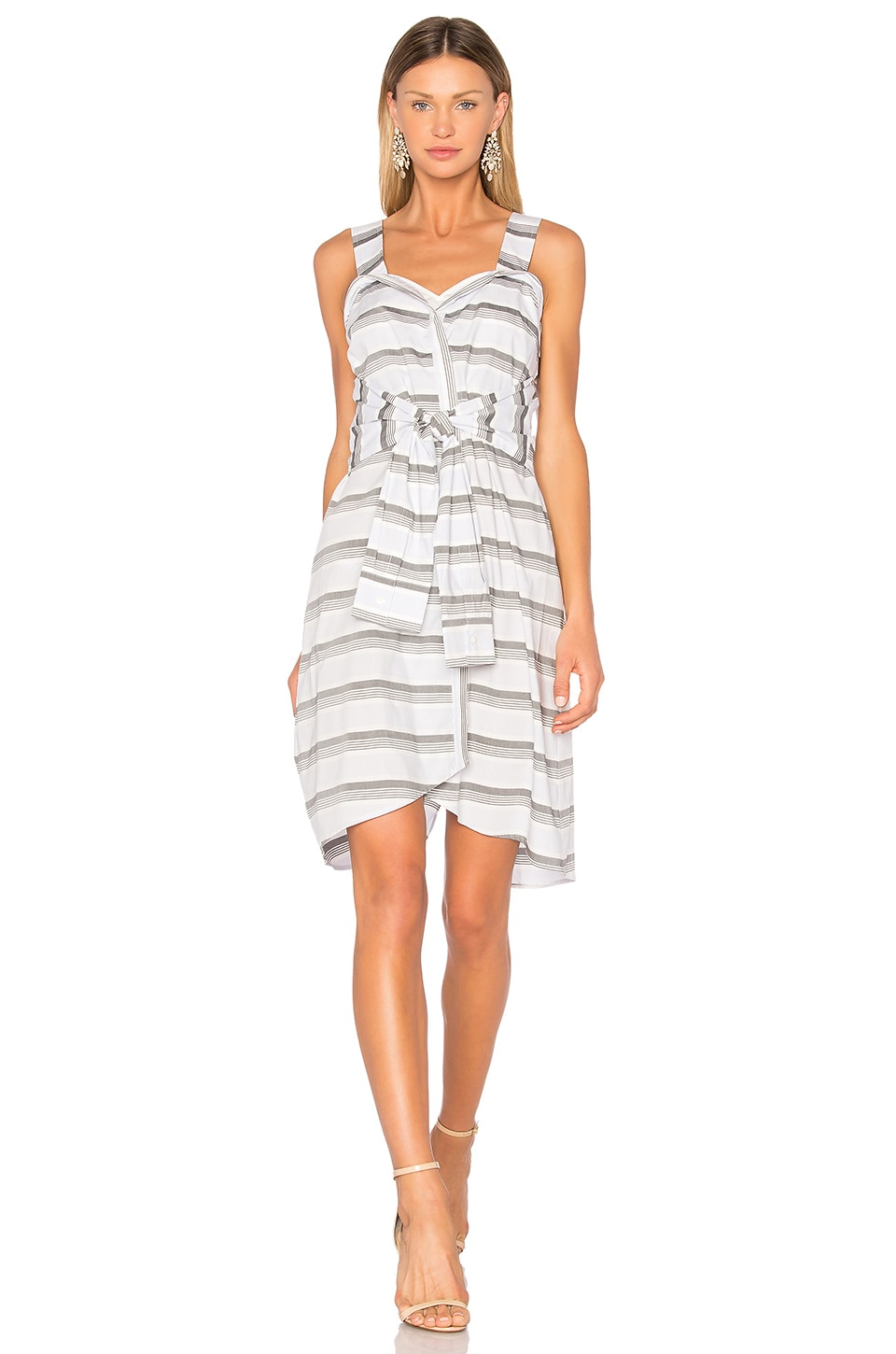 Tie Front Stripe Dress by DEREK LAM 10 CROSBY