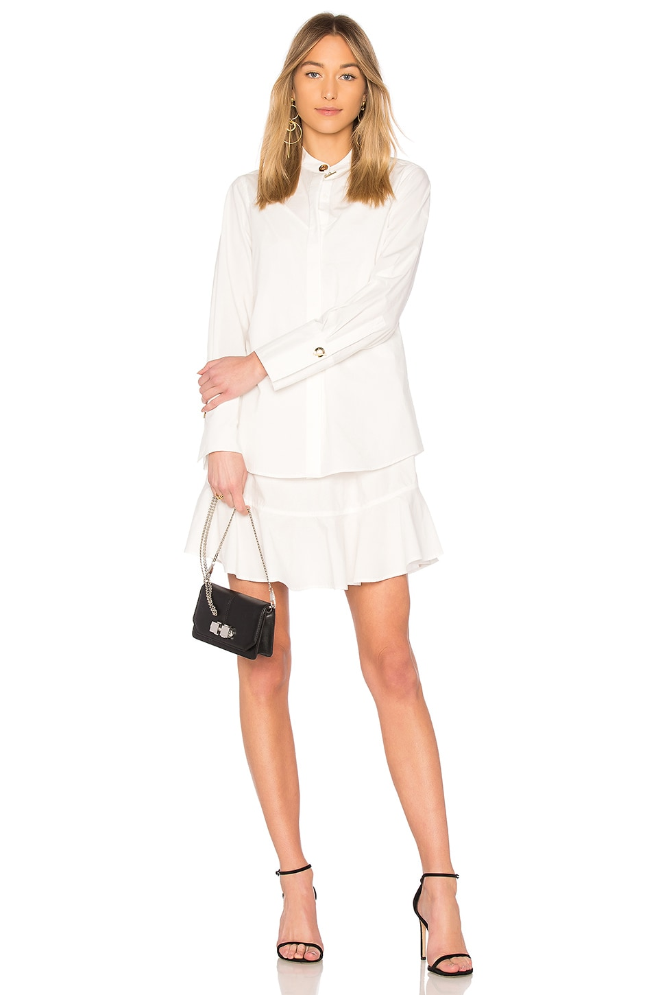 DEREK LAM 10 CROSBY Shirt Dress in Soft White