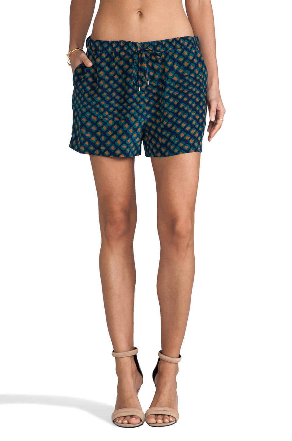 DEREK LAM 10 CROSBY Drawstring Short in Turquoise