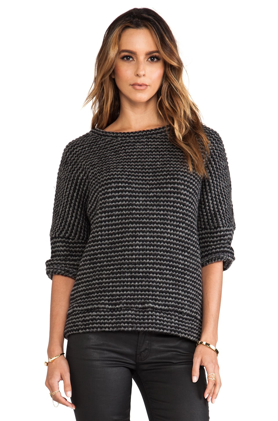 DEREK LAM 10 CROSBY Oversized Sweater in Grey