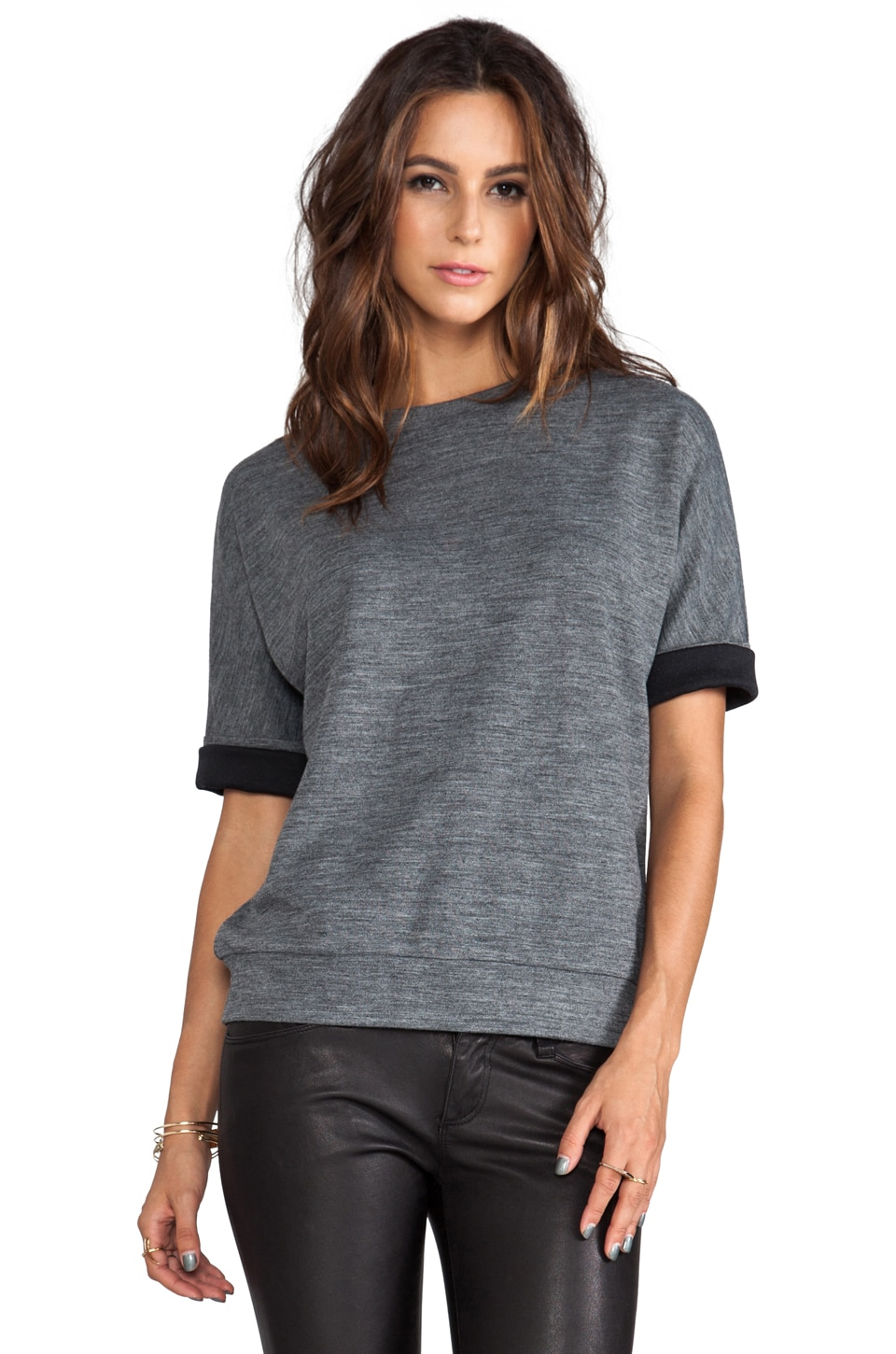 DEREK LAM 10 CROSBY Oversized Sweatshirt in Grey