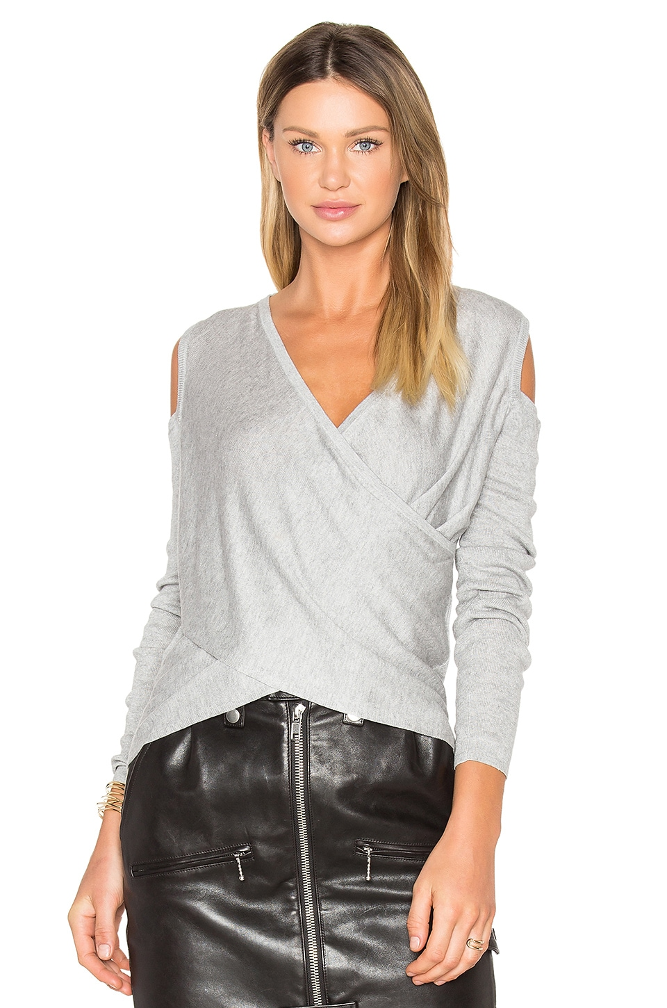 Cross Front Cut Out Shoulder Sweater by DEREK LAM 10 CROSBY