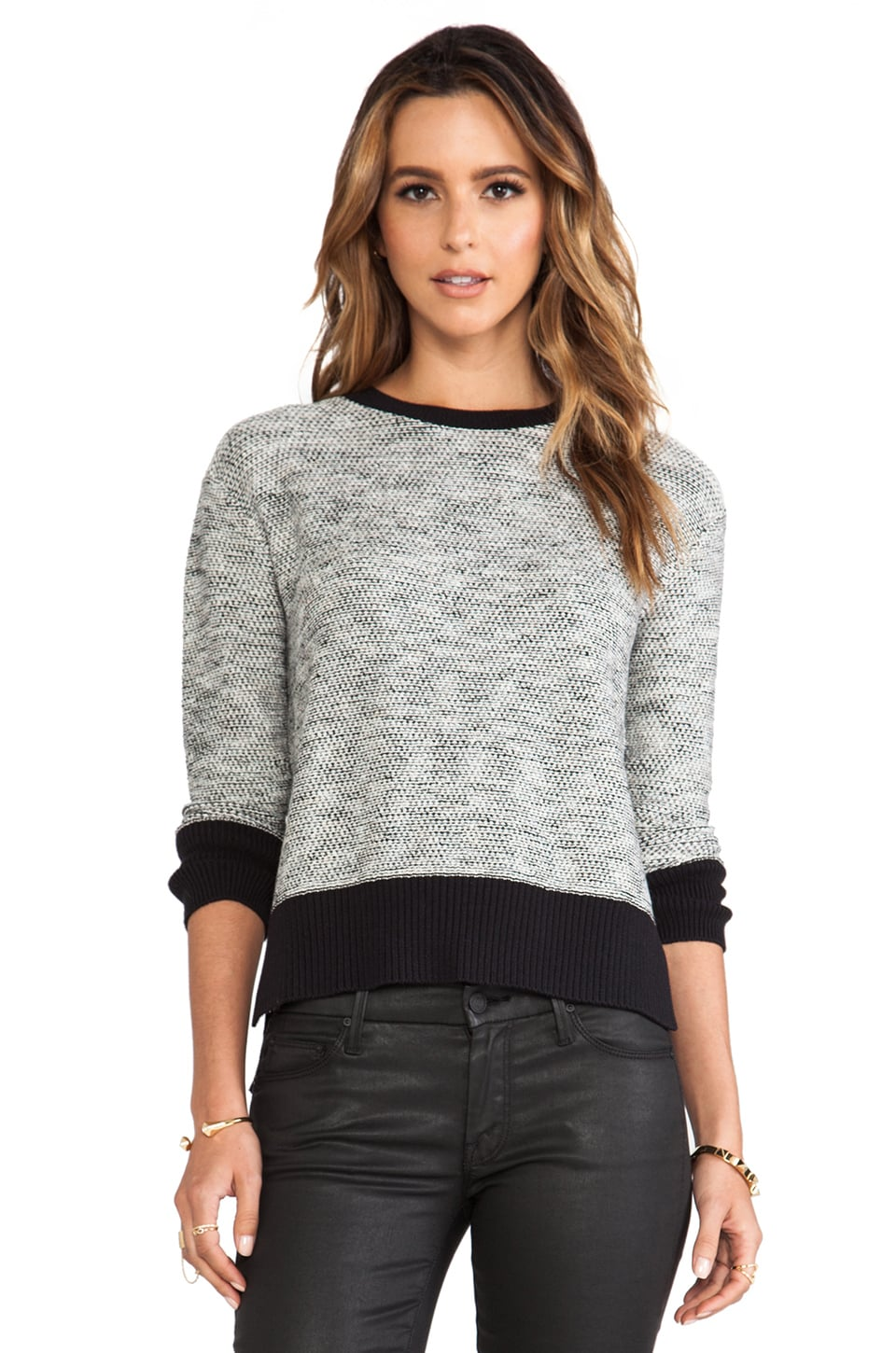 DEREK LAM 10 CROSBY RUNWAY Crew Neck Sweater in Black