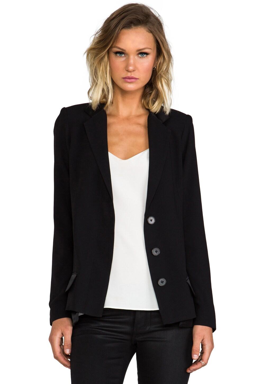 DEREK LAM 10 CROSBY Double Pocket Tuxedo Jacket in Black