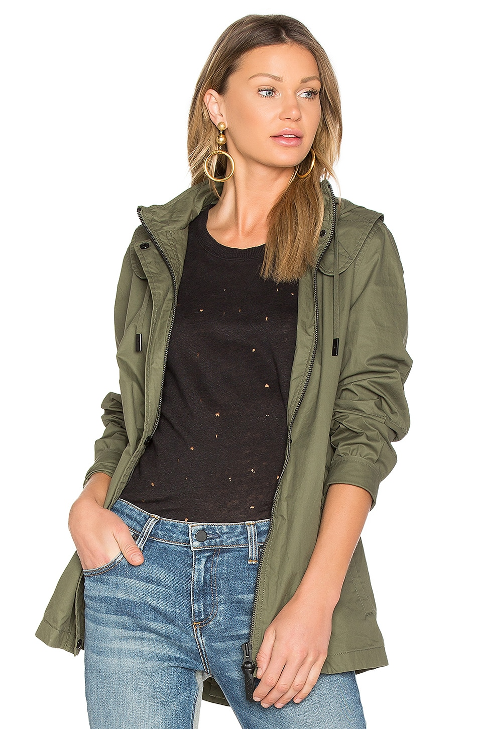 DEREK LAM 10 CROSBY Rain Jacket in Loden