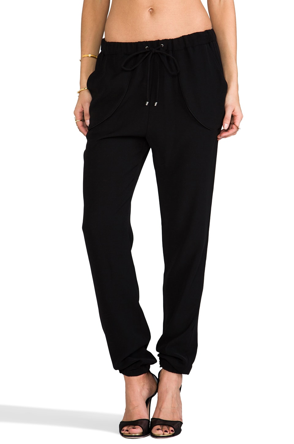 DEREK LAM 10 CROSBY RUNWAY Track Pant in Black