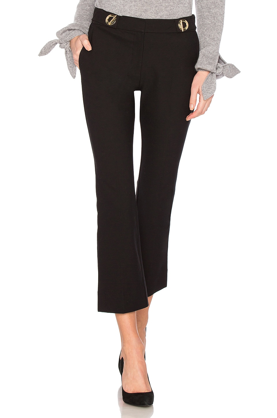 Grommet Detail Crop Trouser