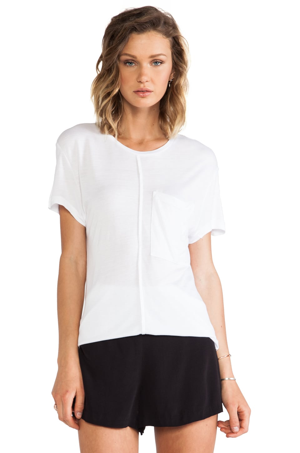 DEREK LAM 10 CROSBY Seam Tee in White