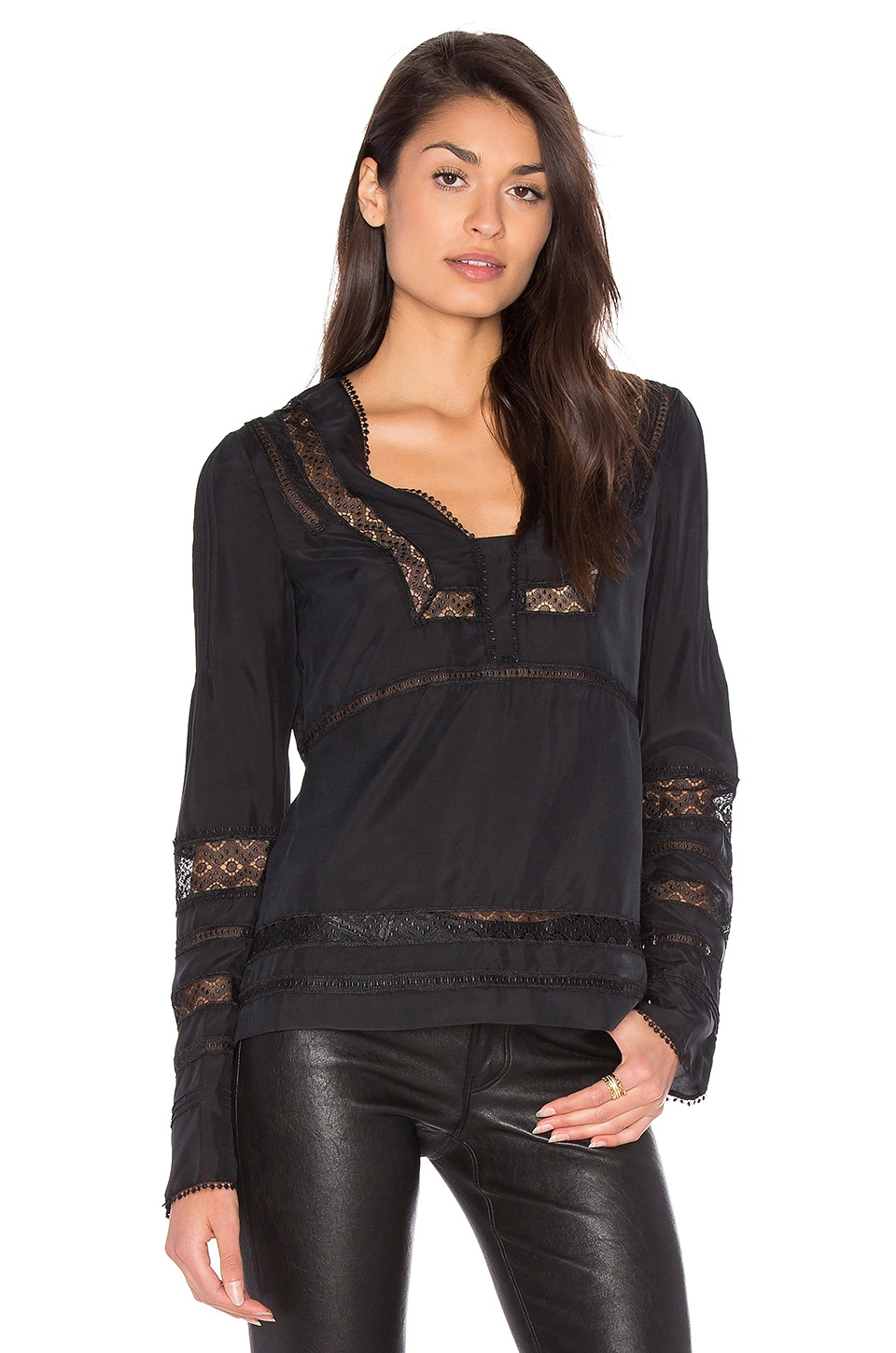 Low V-Neck Blouse by DEREK LAM 10 CROSBY