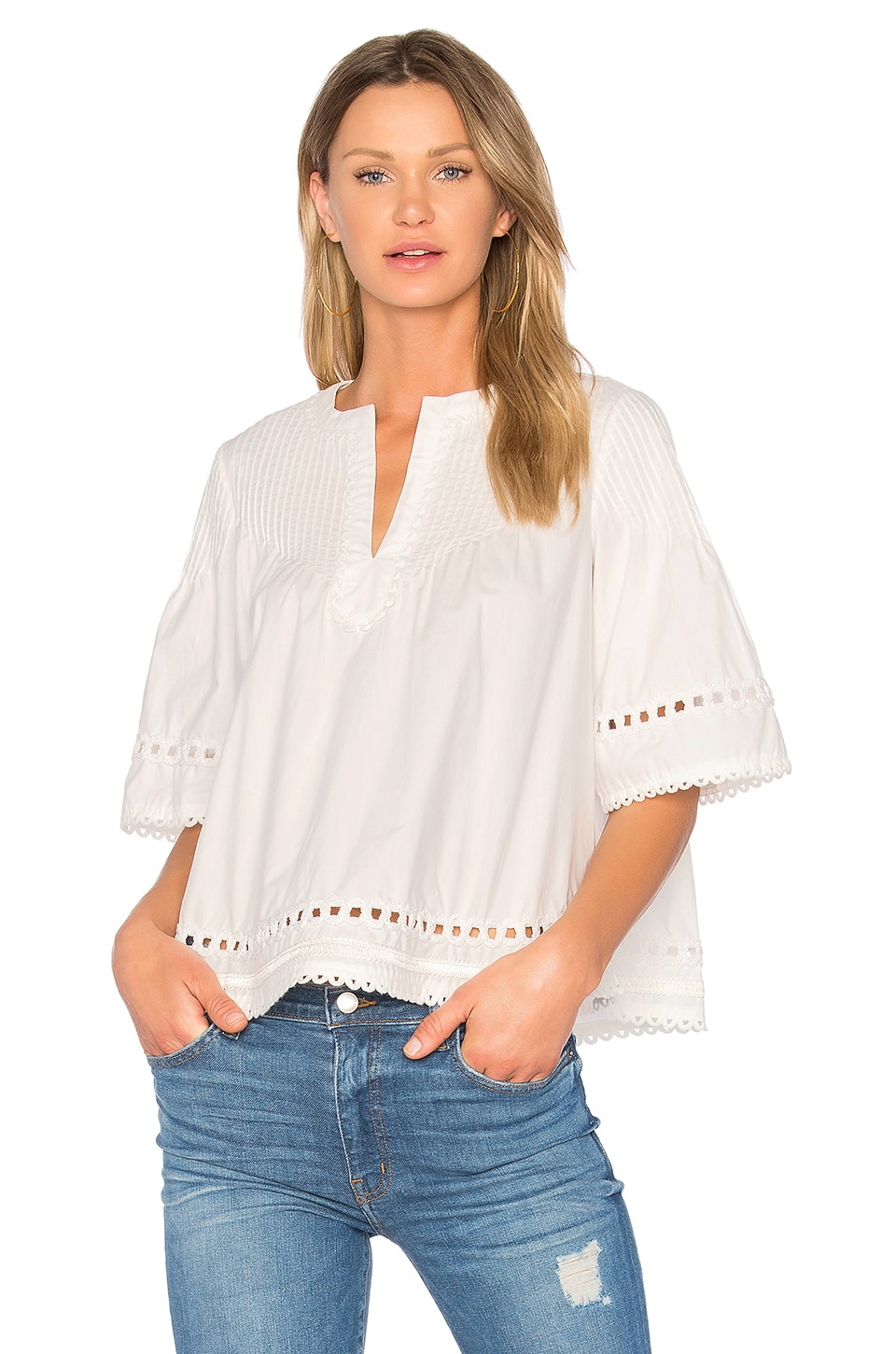 Pintuck Top by DEREK LAM 10 CROSBY