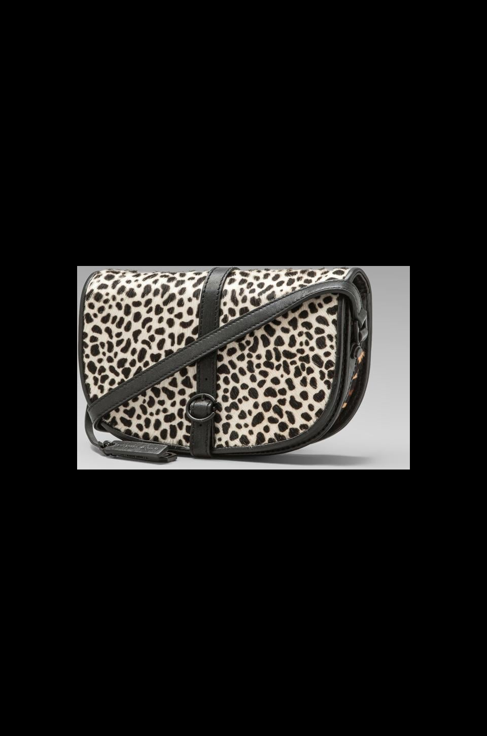 DEREK LAM 10 CROSBY Mixed Leopard Print Folio Lola in Black/White Multi