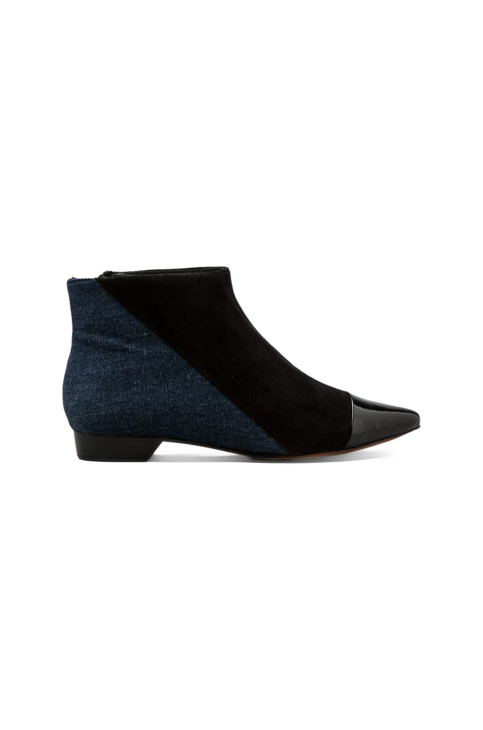 DEREK LAM 10 CROSBY Austin Boot in Black/Indigo