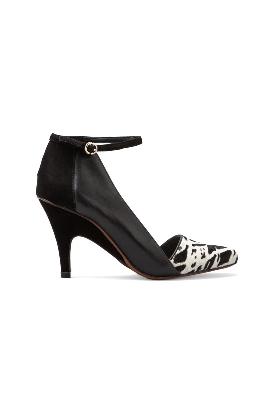 DEREK LAM 10 CROSBY Val Heel in Black/White