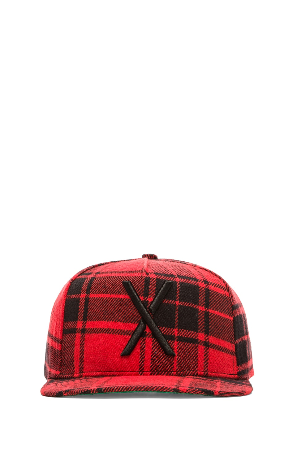 10 Deep Larger Living Snapback in Red