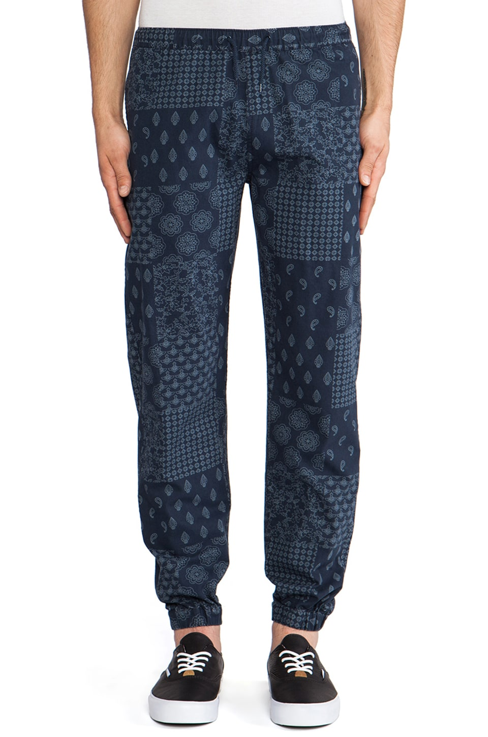 10 Deep Full Cozy Pant in Navy Bandana Check