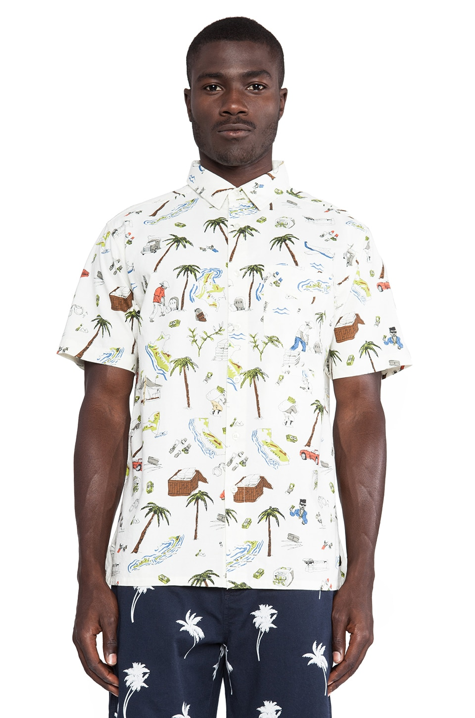 10 Deep Beach Front Button Down in White