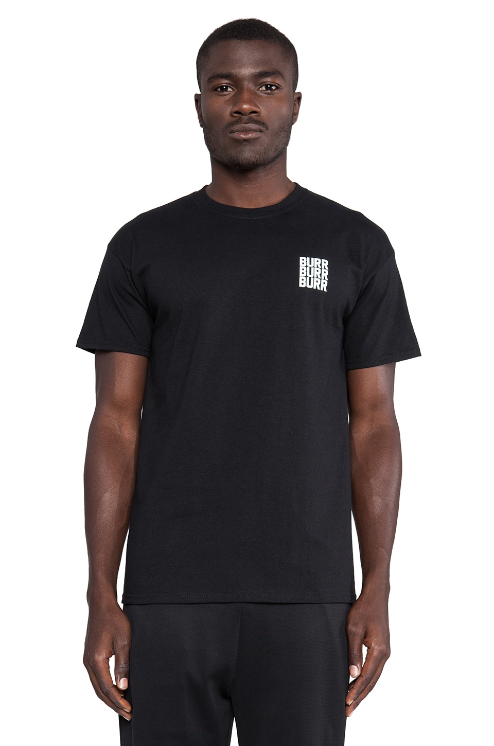 10 Deep White Bricks Tee in Black