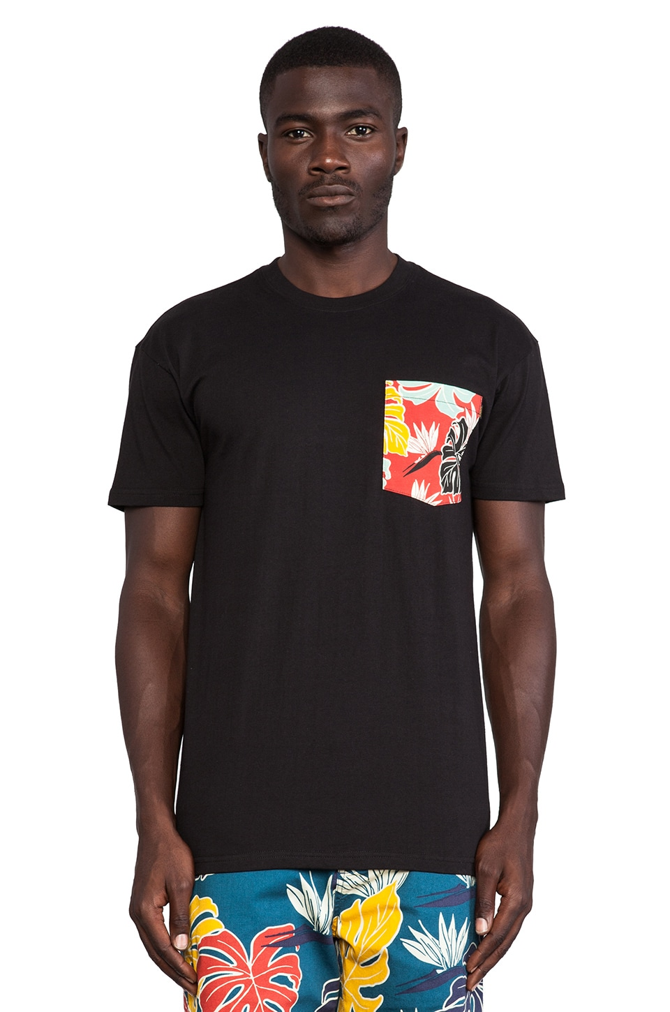 10 Deep Tribes Pocket Tee in Black