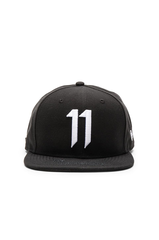 11 by Boris Bidjan Saberi 11 Logo Cap in Black   White  afcb2586ad75