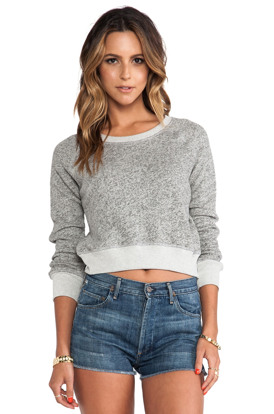 19 4t Crop Sweater in Charcoal