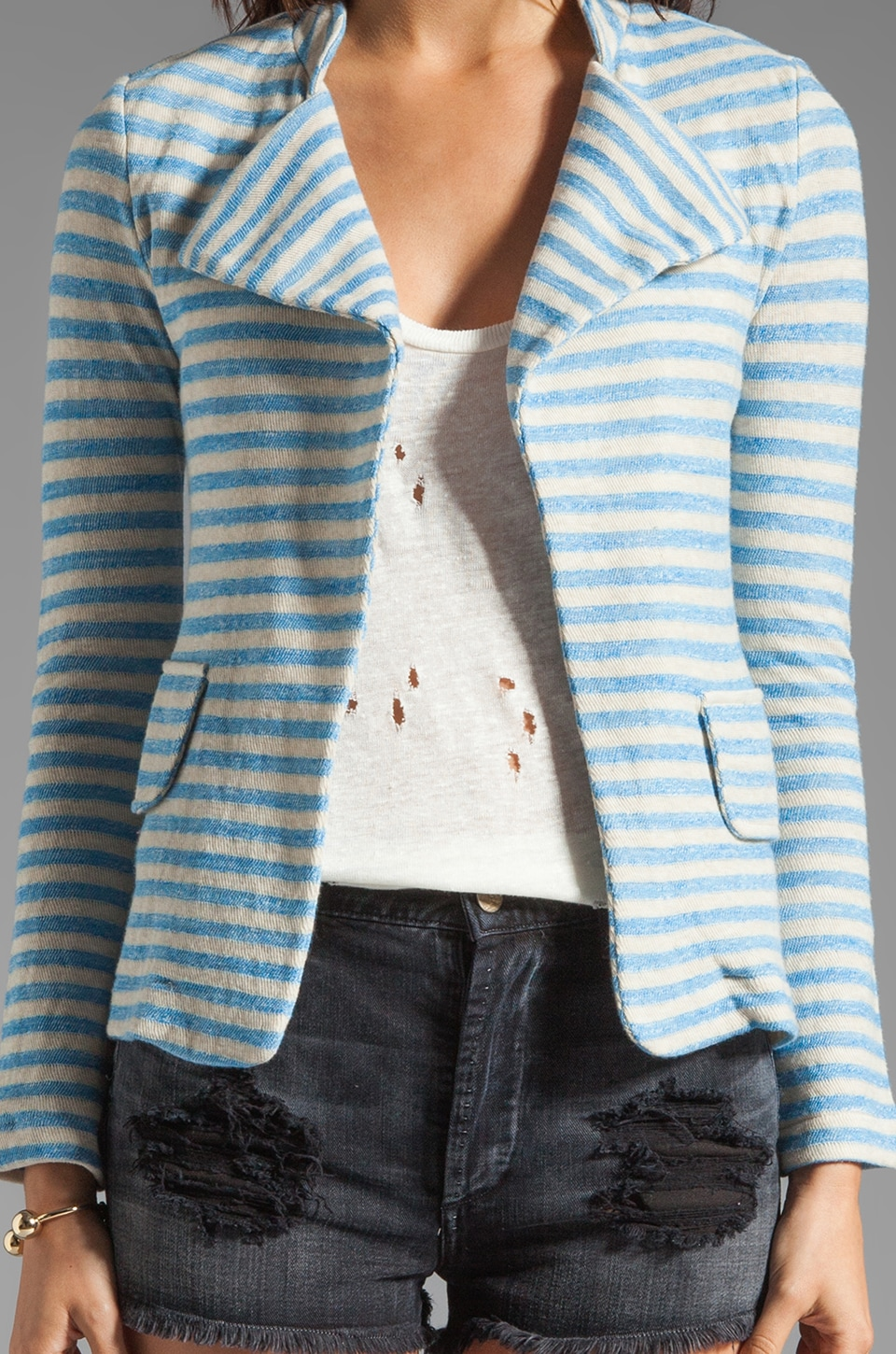 19 4t Blazer in Blue Stripe