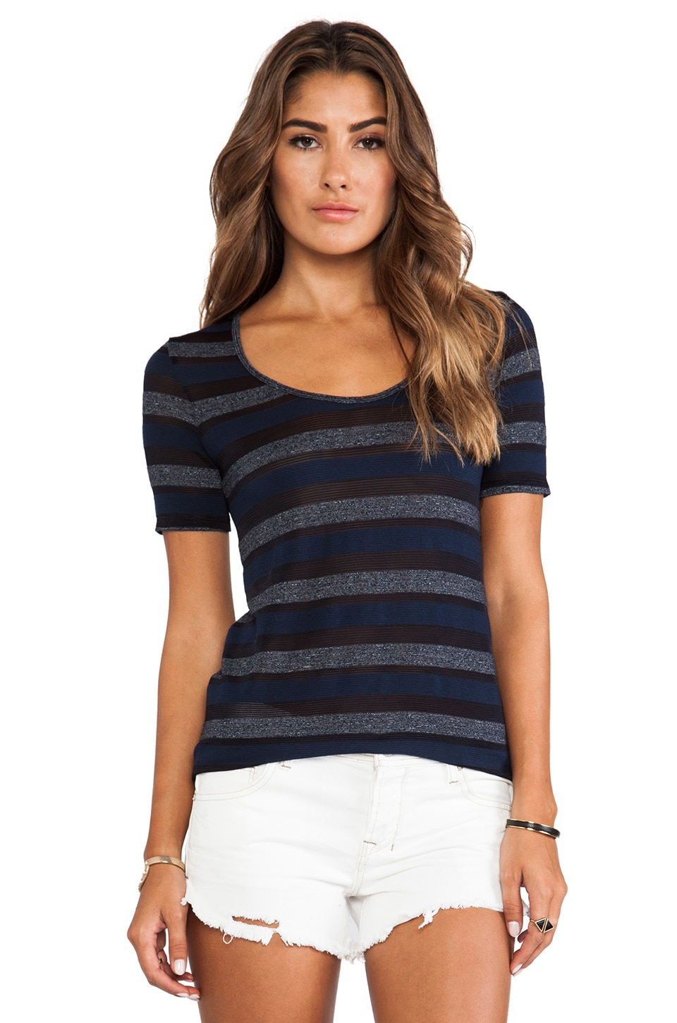 19 4t Short Sleeve T-Shirt in Navy Stripe