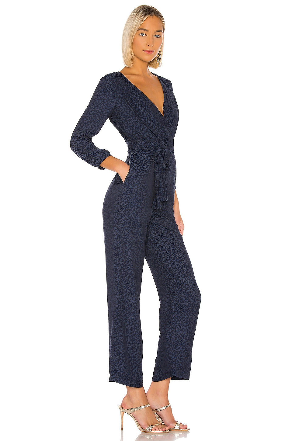 Front Tie Waist Jumpsuit, view 2, click to view large image.