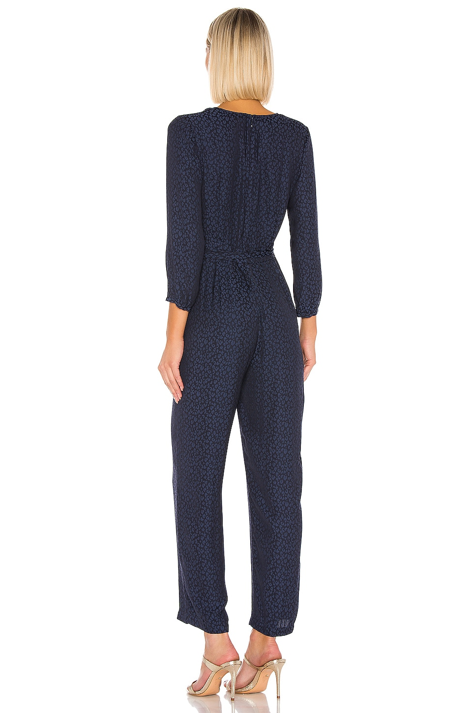 Front Tie Waist Jumpsuit, view 3, click to view large image.
