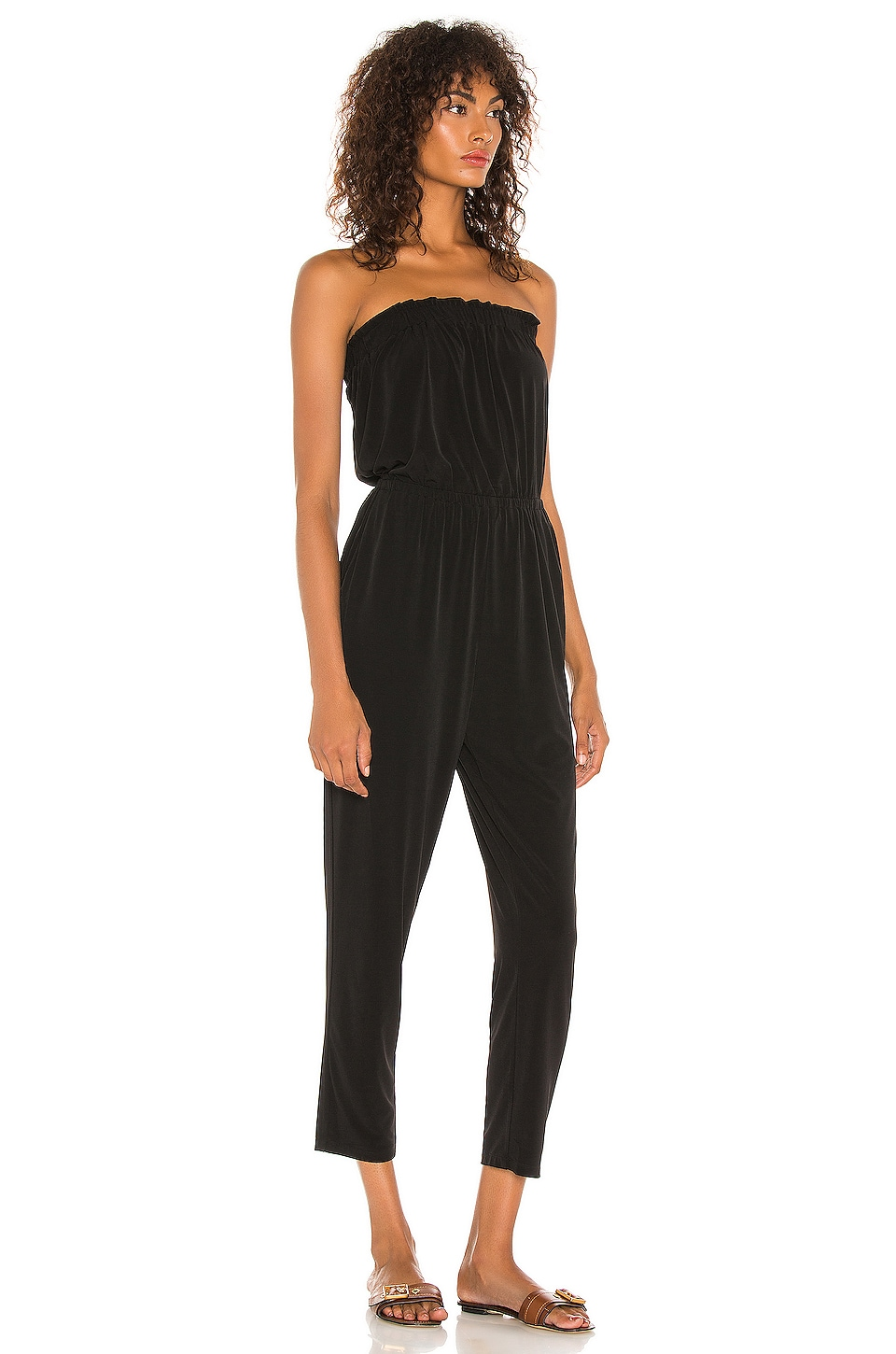 Strapless Knit Jumpsuit, view 2, click to view large image.
