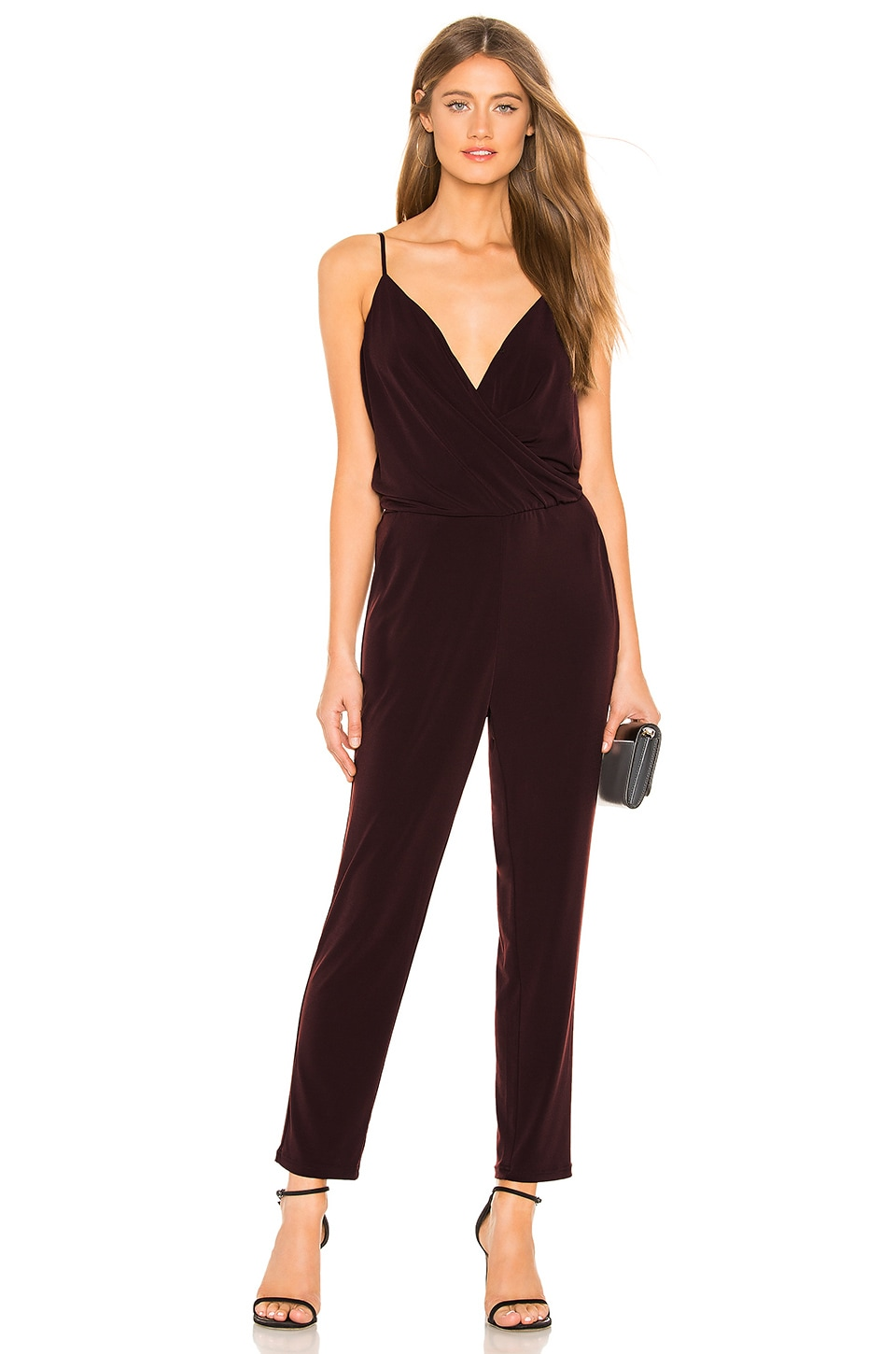 1. STATE Wrap Front Jumpsuit