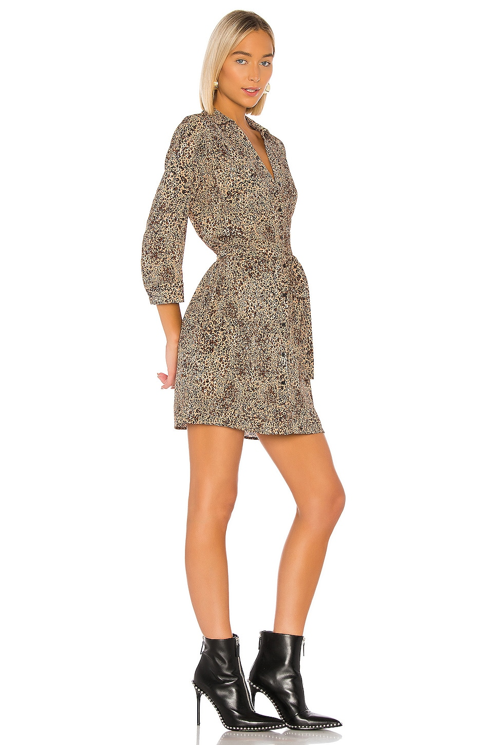 Leopard Muse Patch Pocket Shirt Dress, view 2, click to view large image.