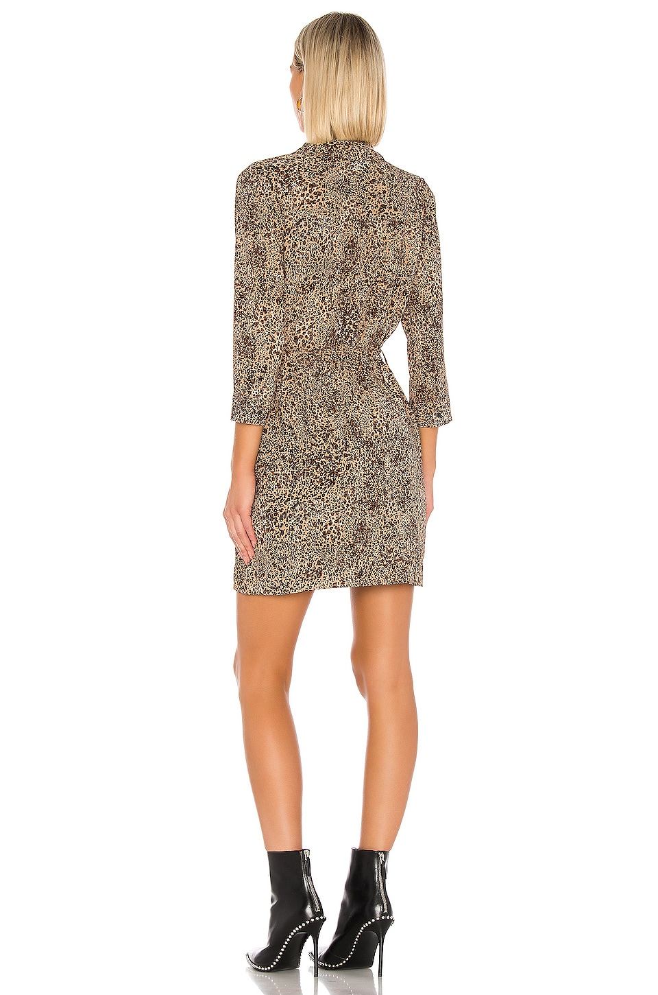 Leopard Muse Patch Pocket Shirt Dress, view 3, click to view large image.