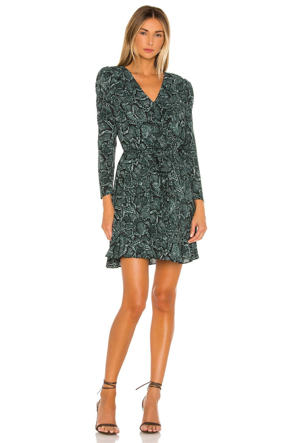 Tie Waist Snake Print Dress             1. STATE                                                                                                                                         Sale price:                                                                       CA$ 113.49                                                                  Previous price:                                                                       CA$ 174.29 15
