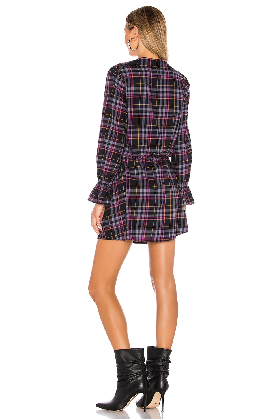 Button Up Plaid Dress, view 3, click to view large image.