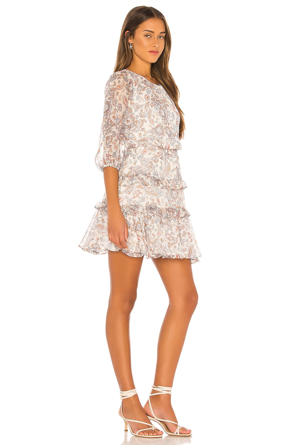 Tiered Ruffle Lyrical Paisley Dress, view 2, click to view large image.