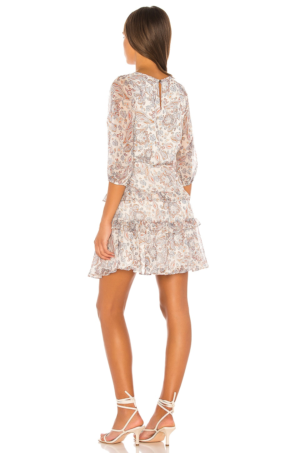 Tiered Ruffle Lyrical Paisley Dress, view 3, click to view large image.