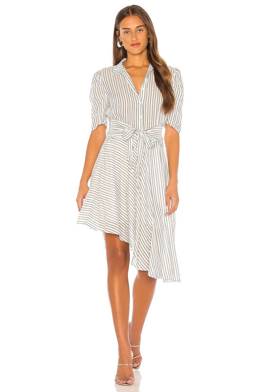1. STATE Tie Front Striped Dress in Soft Ecru