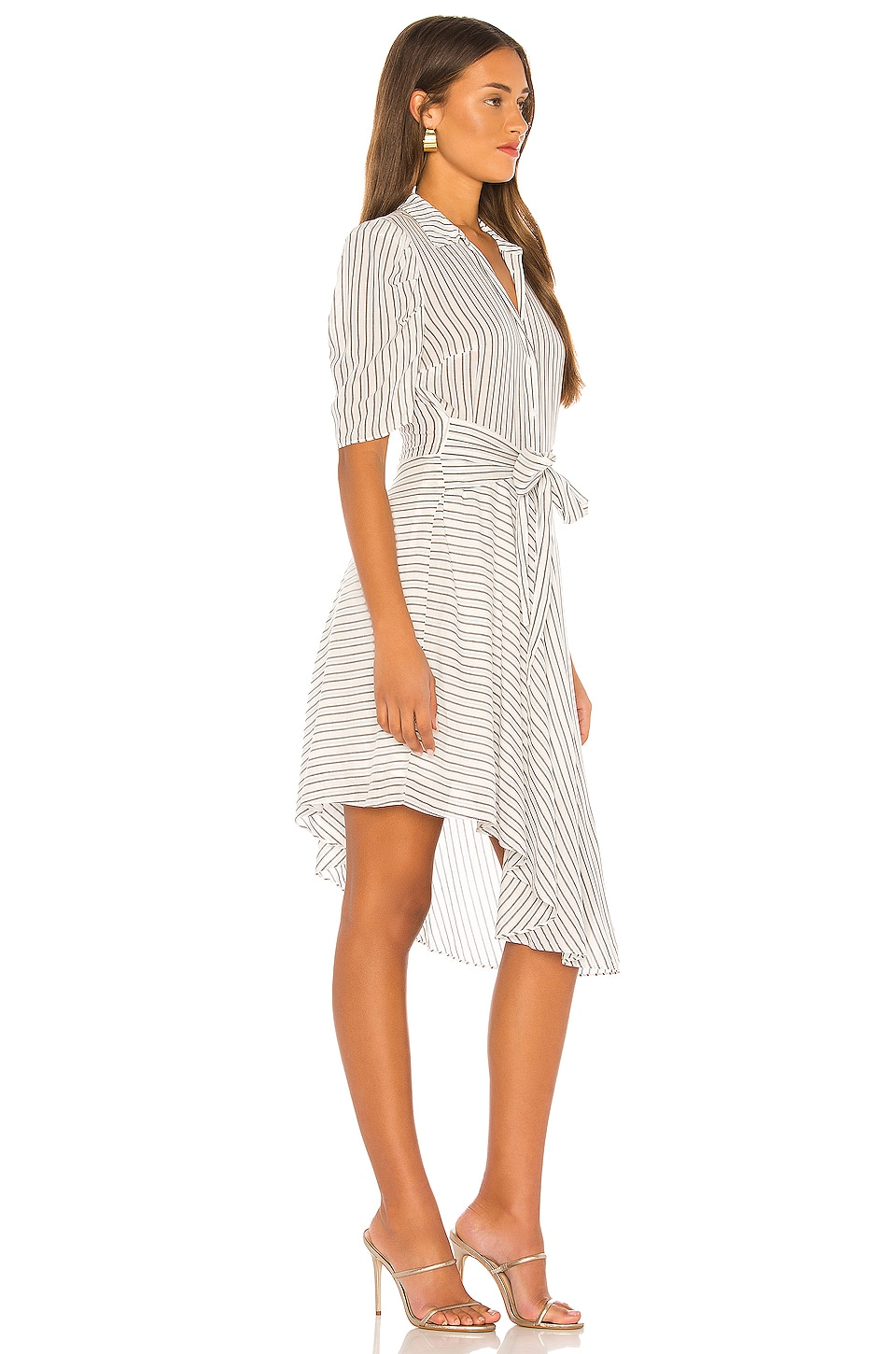 Tie Front Striped Dress, view 2, click to view large image.