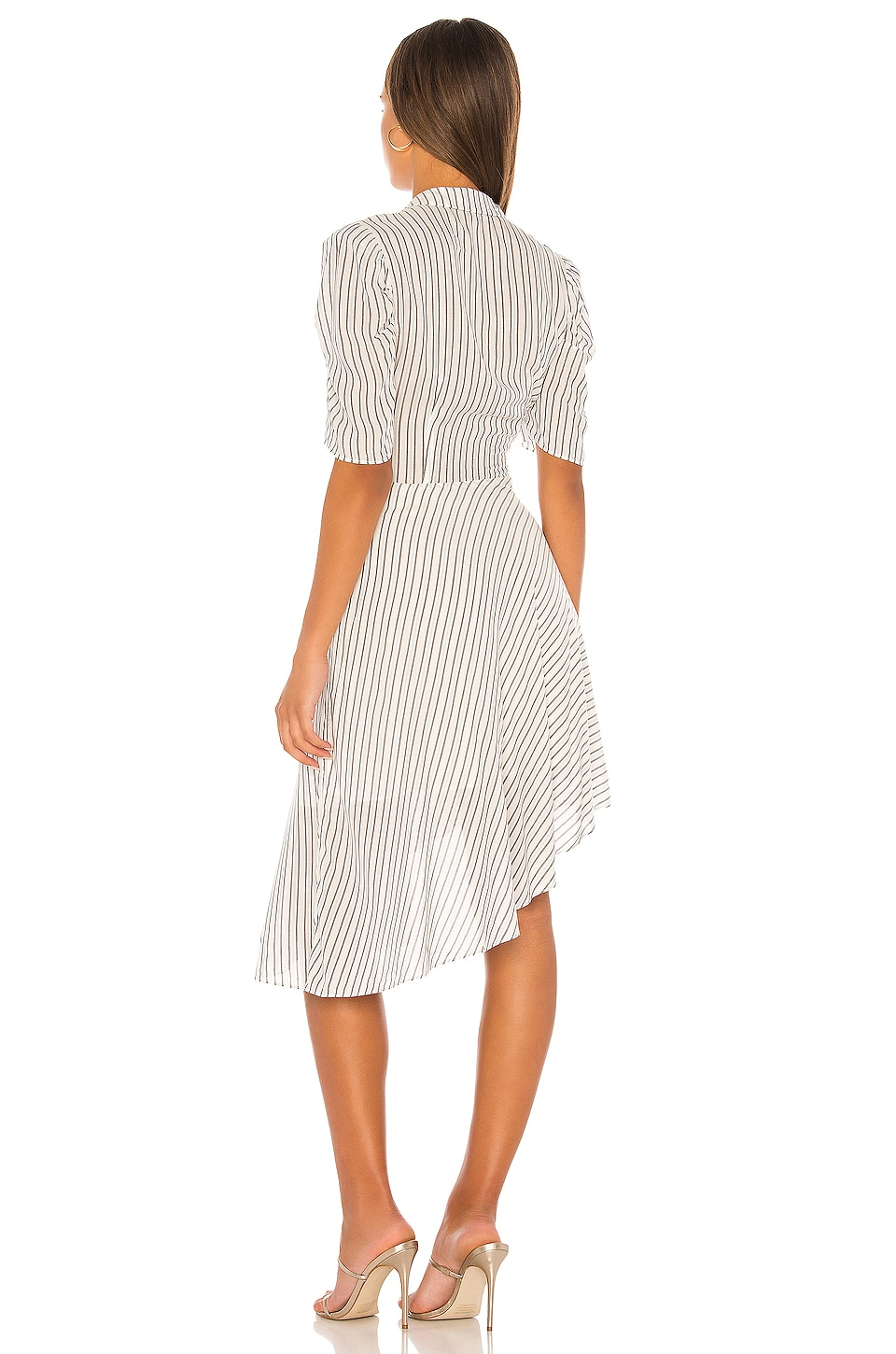 Tie Front Striped Dress, view 3, click to view large image.