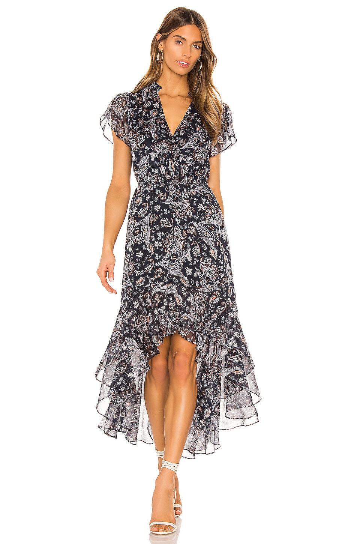 1. STATE Flutter Sleeve Lyrical Paisley Dress in Multi