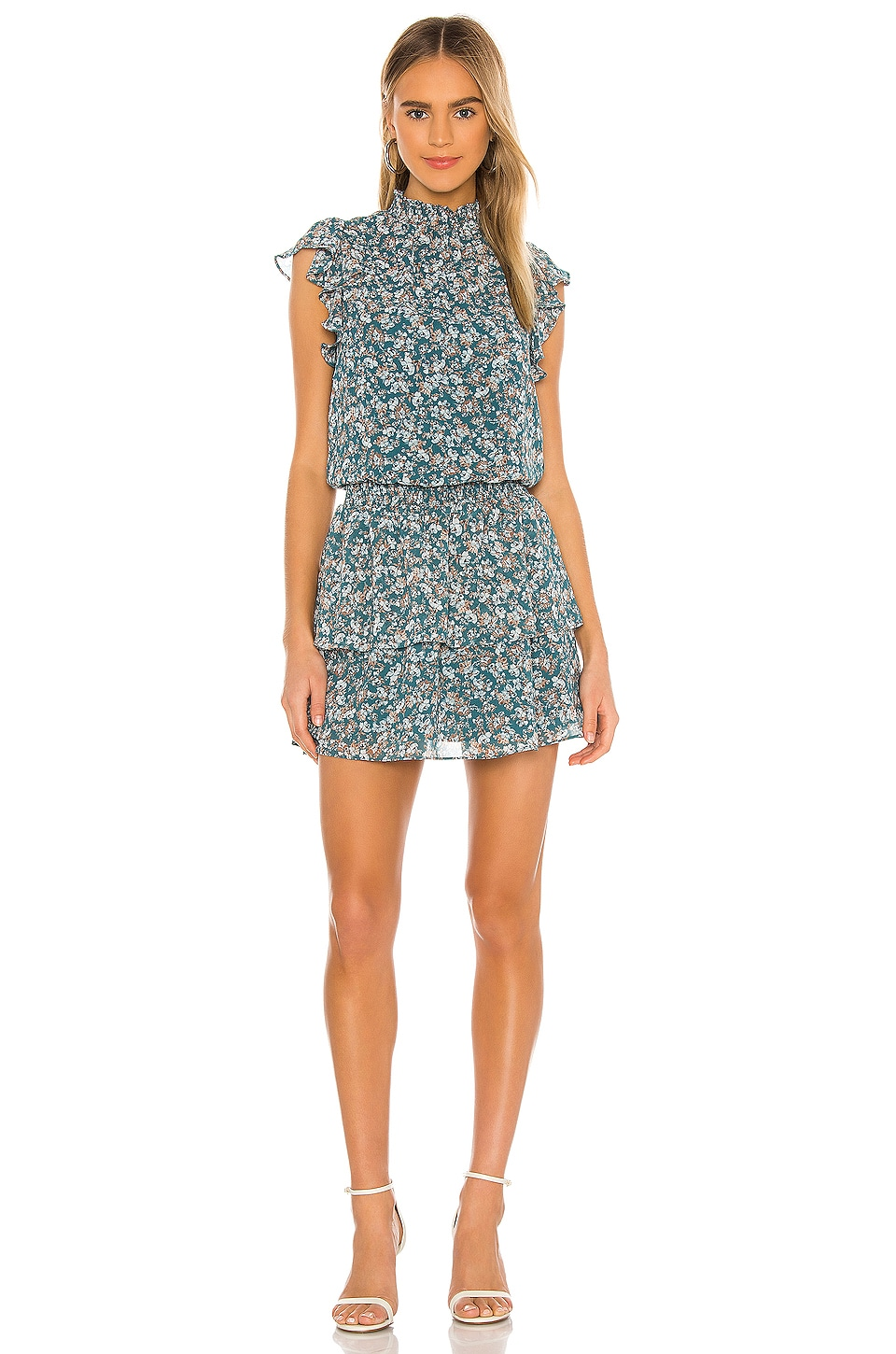 Woodland Floral High Neck Tiered Dress             1. STATE                                                                                                       CA$ 140.76 1