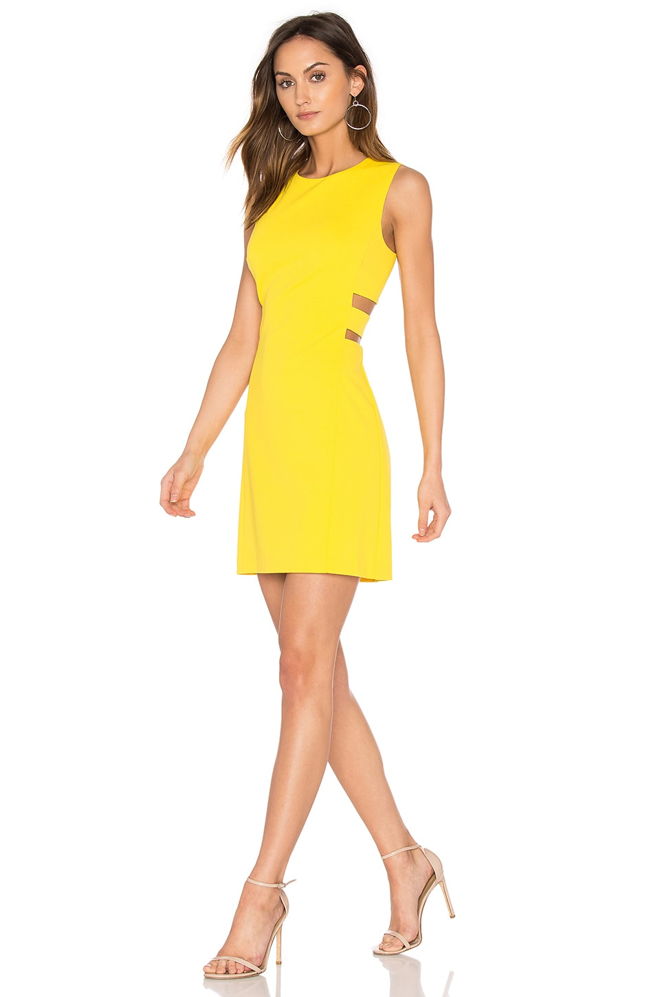 1. STATE Cut Out A Line Dress in Yellow Zest